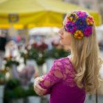 Lovely Flower Crochet Pillbox Hat Fascinator Headband Colorful Headpiece Multicolor Headgear Hair Accessory Protas Fashion