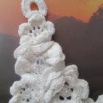 Wedding Bride Crochet Ecru Floral Motif Amazing Unique Original Hand Made Feminine Necklace
