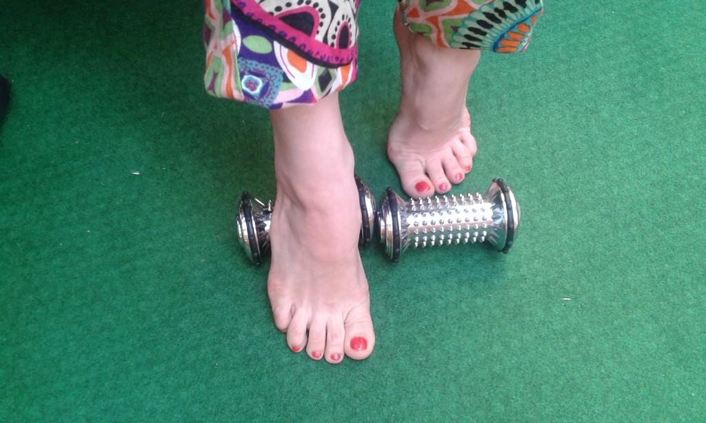 rolki do masażu stóp