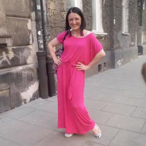 Różowa Długa Sukienka Mocy #JestemDlaSiebie ByByćDlaInnych