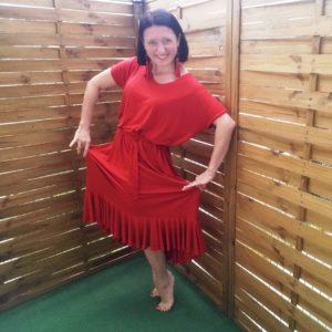 Czerwona Sukienka z Falbanami #KochamTą KtórąJestem