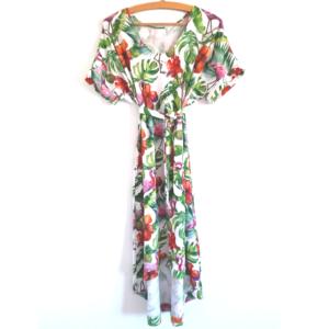 Dżunglowa Sukienka Mocy – sukienka na lato w dżunglę i flamingi #RobięSwoje ZRadością