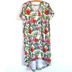 Dżunglowa Sukienka Mocy – sukienka na lato w dżunglę i flamingi #RobięSwojeZRadością