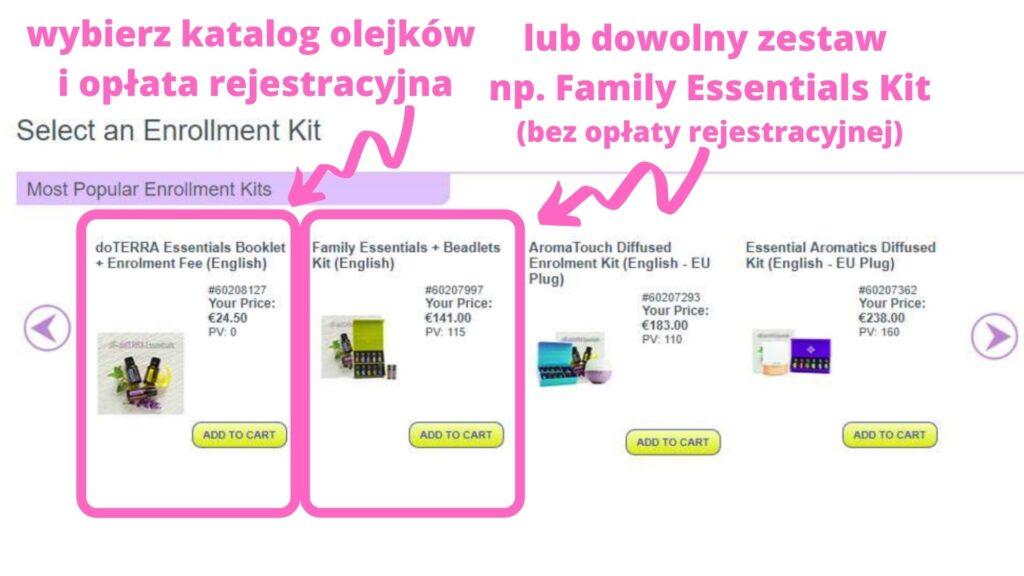 Rejestracja konta doTERRA Hejkum Olejkum Anna Protas
